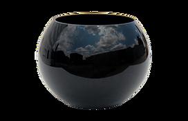 Black round vase for rent