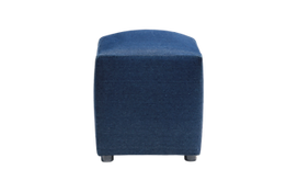 Denim ottoman for furniture rental