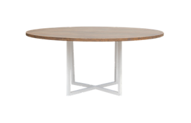 Round wooden table for rent
