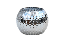 Silver bubble ball vase for rental