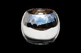 Silver round vase for rental