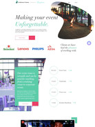 Web design for Conferencing Venues