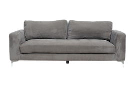 Grey couch for furniture rental
