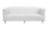 White couch for furniture rental