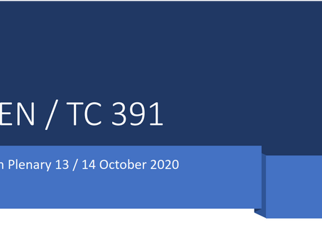 Participation on the 20th CEN/TC 391 plenary meeting