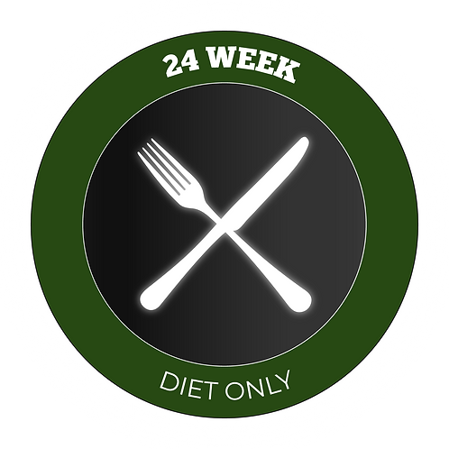 24 Week Diet Only Plan