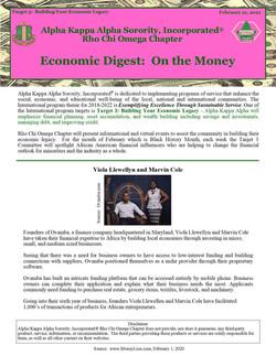 Economic Digest On the Money Feb 22