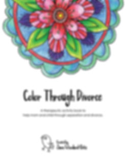 Color Through Divorce a coloring book to help moms and children cope during divorce
