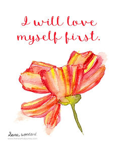 I will love myself first digital print - divorce support
