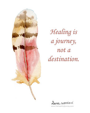 Healing is a journey not a destination divorce quote.