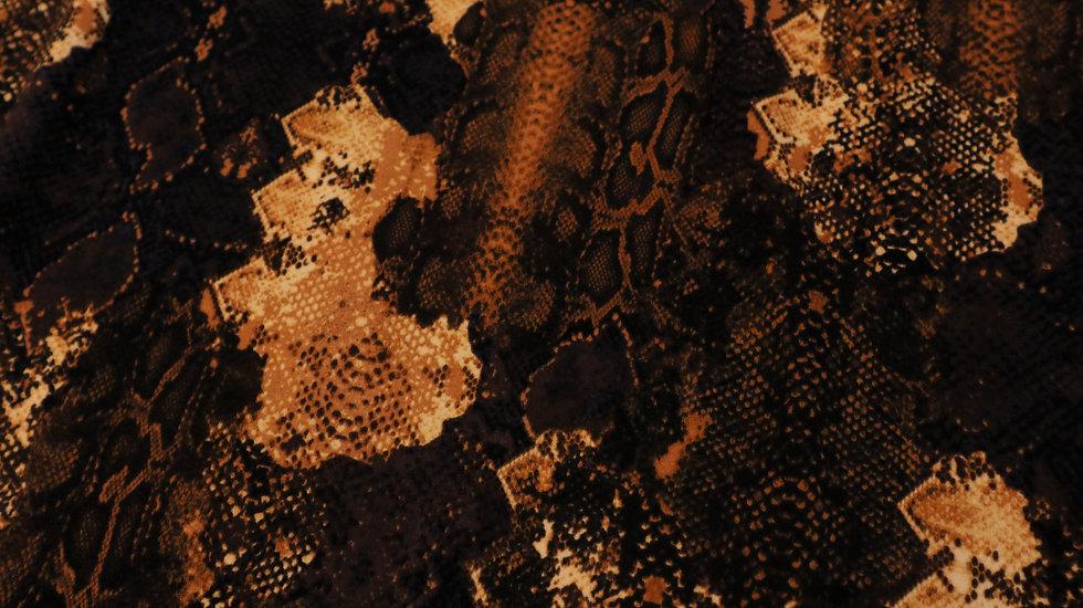 Snake print donker