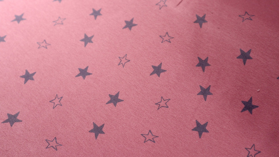 Bio coton pink stars