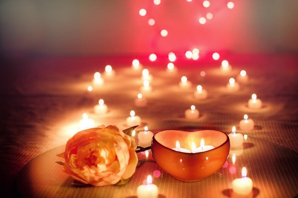 candles memorial wedding deceased humanist flower petal heart love