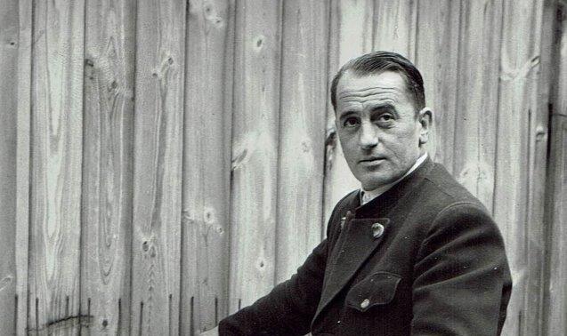 Unsöld's Mitarbeiter Franz Pöller ca. 1958