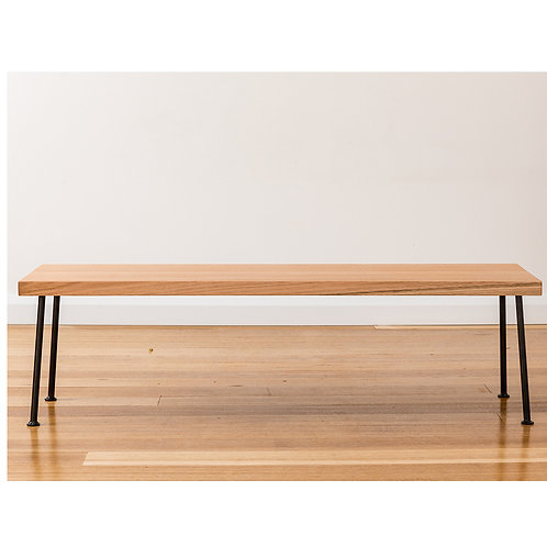 Lottie Bench seat - Tasmanian Oak - Black legs