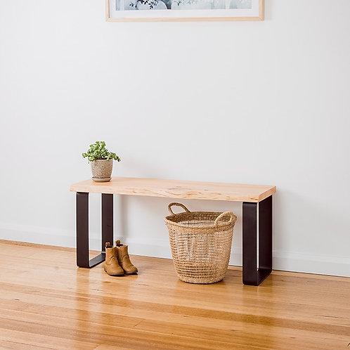 Estelle bench seat - Natural edge - Black legs