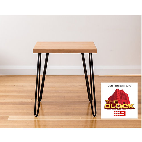 Molly Side Table - Tasmanian Oak - Black Legs