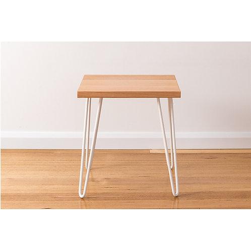 Molly Side Table - Tasmanian Oak - White Legs