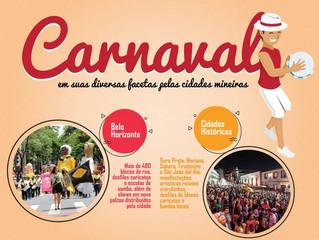 Da folia ao sossego, Minas oferece opções variadas para o feriado de Carnaval