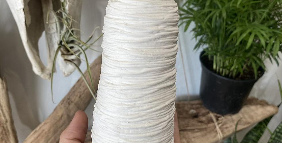 White Textured Propagation Vase