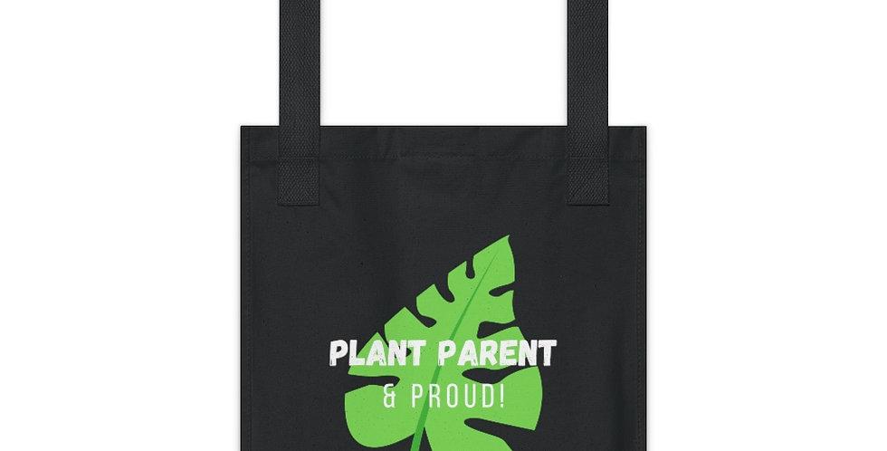 """""""Plant Parent & Proud"""" Organic Canvas Tote Bag"""