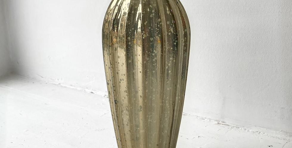 Frosted Gold Leaf Vase