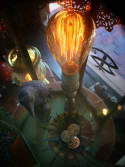 Theif of Time, steampunk lamp in Timeless