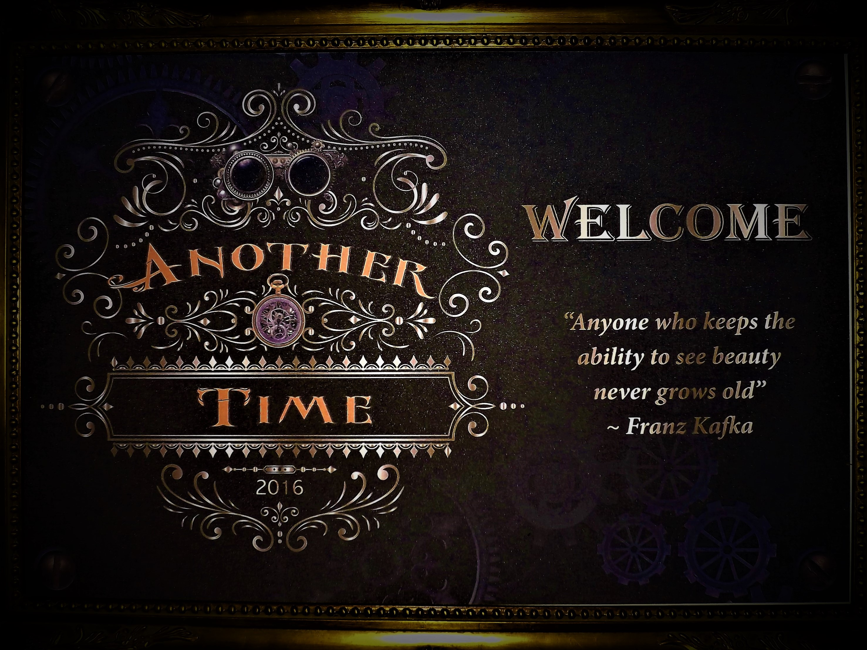 Welcome to ANOTHER TIME!