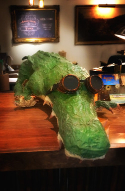 Steamy, The Steampunk Alligator, from Another Time, Fort Myers FL
