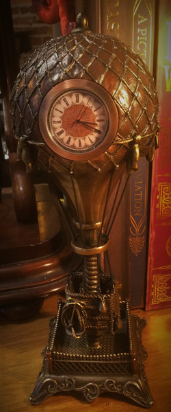 Steampunk Hot Air Balloon Clock