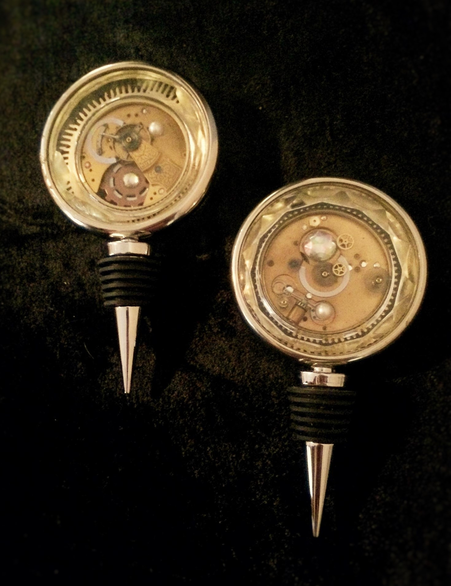 Large Steampunk Bottle Stoppers front
