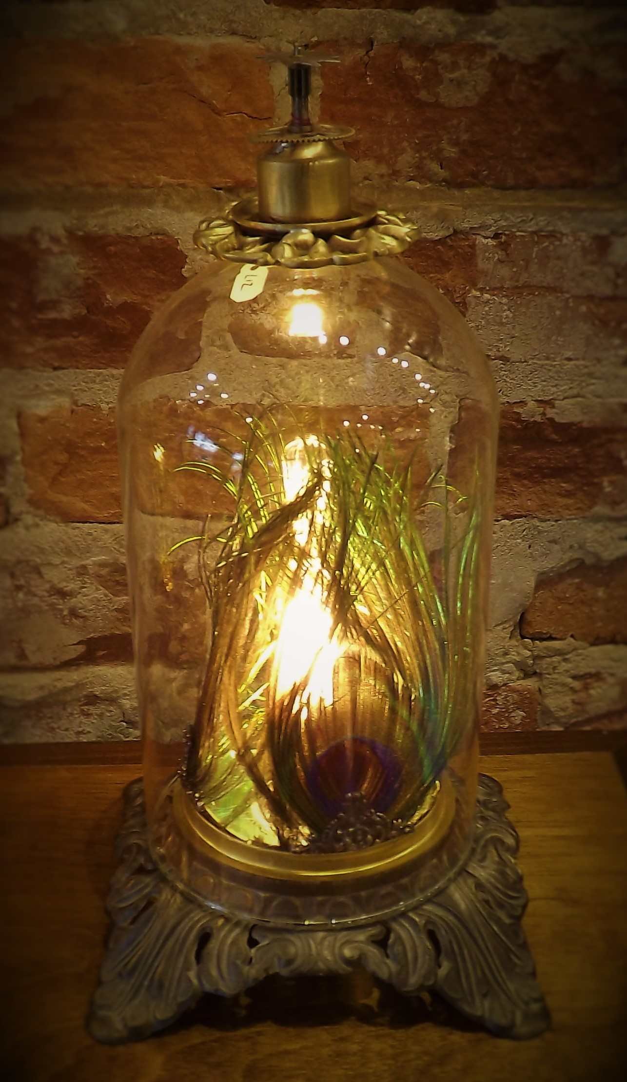 Small Peacock Lamp