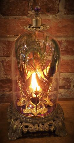 Angels & Swords Peacock Lamp