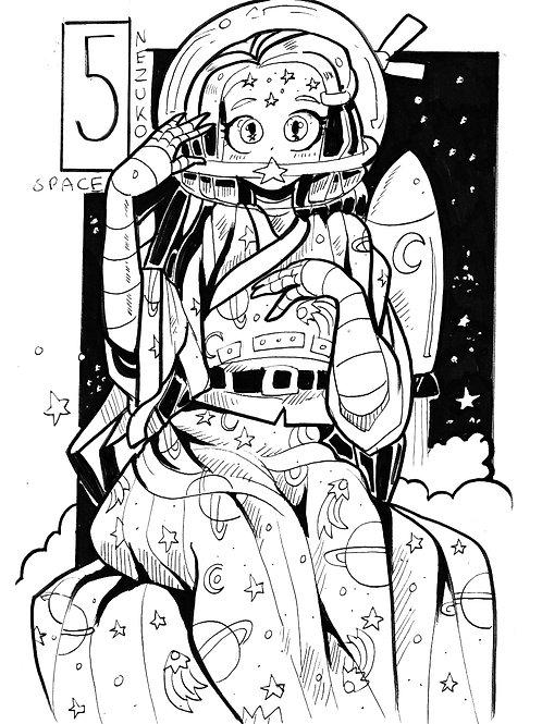 Nezuko in space on bristol