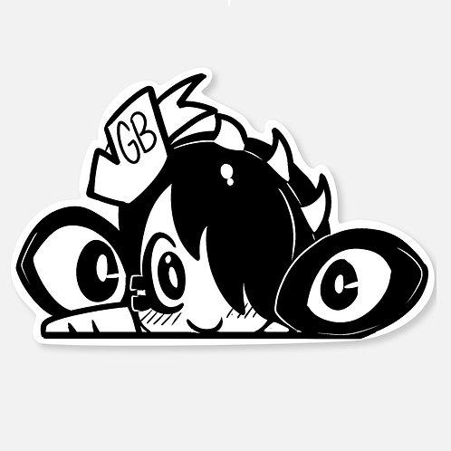 Lulu 5'' Peeker Sticker