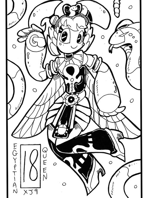 Xj9 as an eqyptian queen on bristol