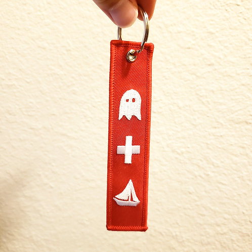Ghost + Boat Keychain