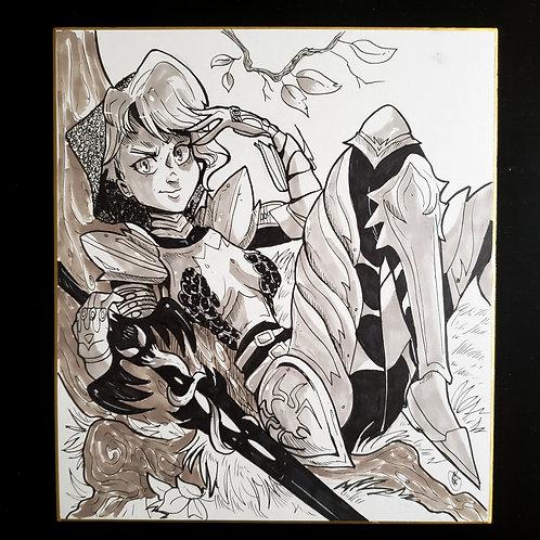 Spider Gwen (Ghost spider) Knight Illustration