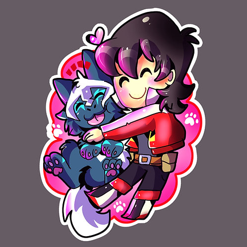 Keith and Cosmo sticker