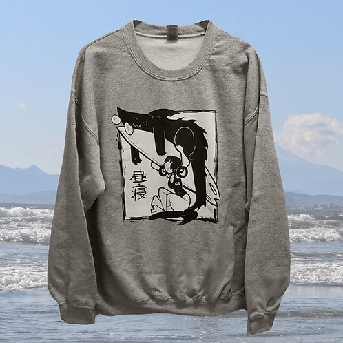 Sleepy Shark Pull Over two sided sweater PRE-ORDER
