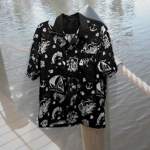 Unisex Light Summer Pattern Button up Pocket Shirt