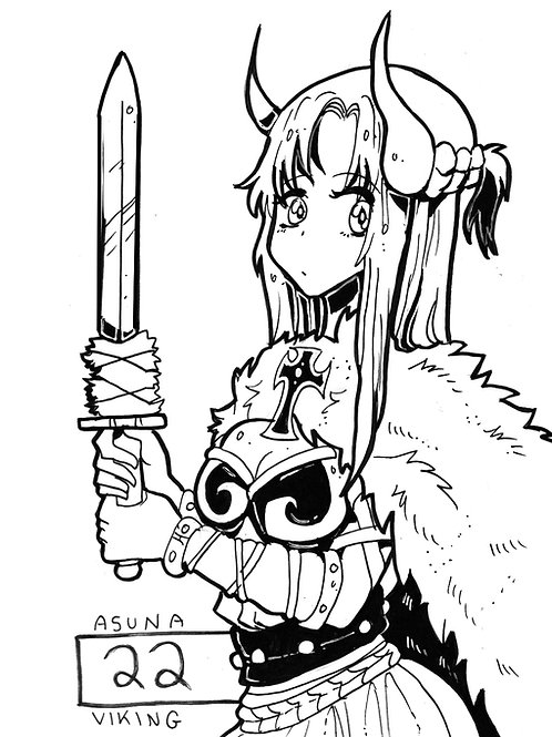 Asuna Yuuki as a viking on bristol