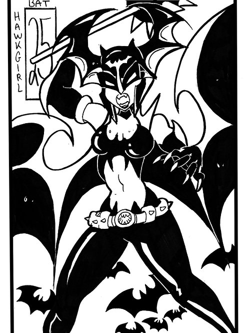 Hawkgirl as a bat on Bristol