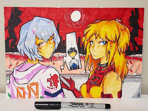Asuka and Rei (Evangelion) on Bristol