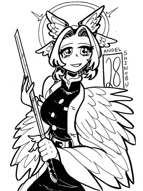 Shinobu as an angel on bristol