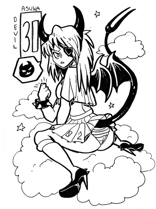 Asuka as a devil on bristol