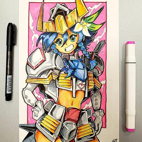 """Venti """"Barbatos"""" as the Gundam Barbatos( Genshin Impact, and Gundam ) on Bristol"""