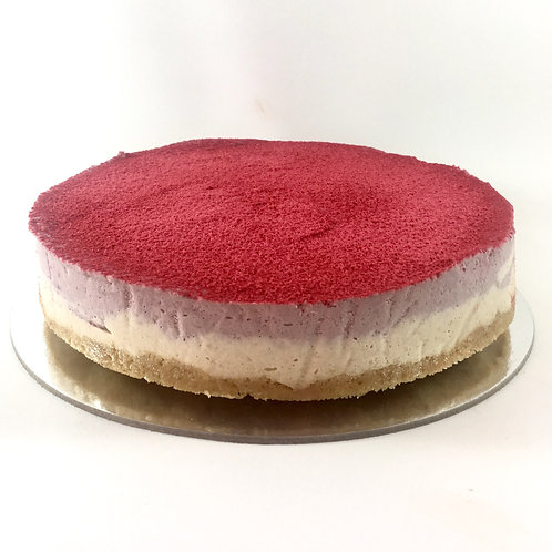 Raspberry dust mousse cake