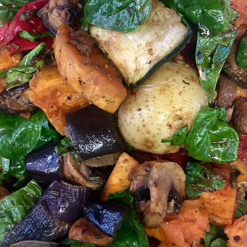 Oven roasted vegetable salad
