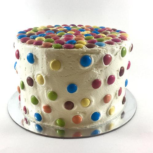 Smartie rainbow cake